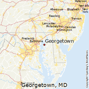 Georgetown,Maryland Map