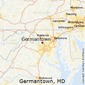 Germantown,Maryland Map