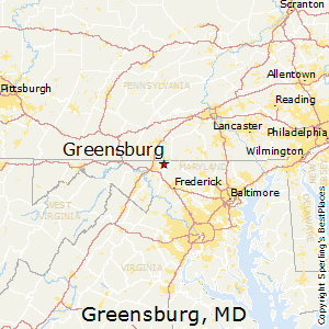 Greensburg,Maryland Map