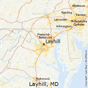 Layhill,Maryland Map