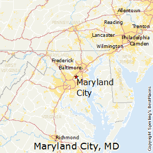 Best Places To Live In Maryland City Maryland - Maryland map and cities