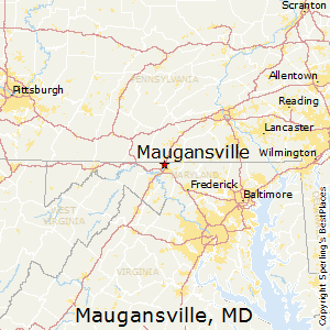 Maugansville,Maryland Map