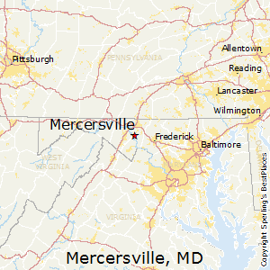 Mercersville,Maryland Map