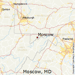 Moscow,Maryland Map