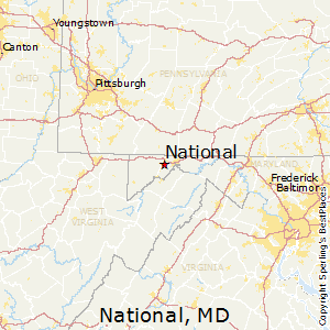 National,Maryland Map