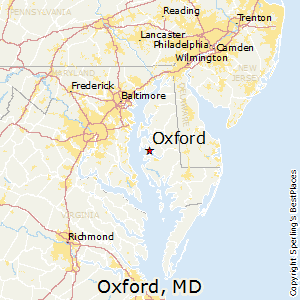 Oxford,Maryland Map