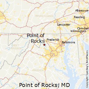 Point_of_Rocks,Maryland Map