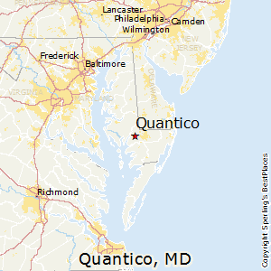 Quantico,Maryland Map