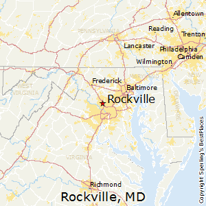 Rockville,Maryland Map