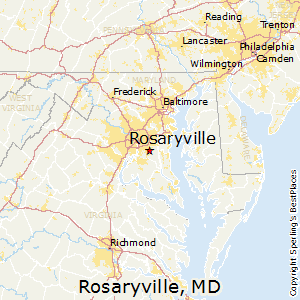 Rosaryville,Maryland Map