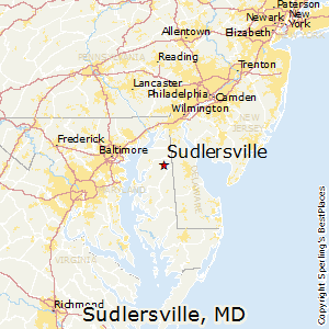 Sudlersville,Maryland Map