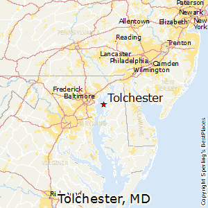 Tolchester,Maryland Map