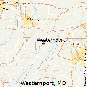 Westernport,Maryland Map