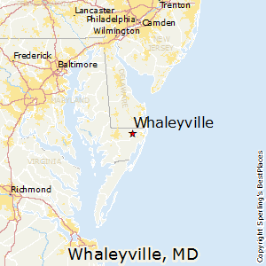 Whaleyville,Maryland Map