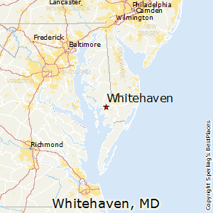 Whitehaven,Maryland Map