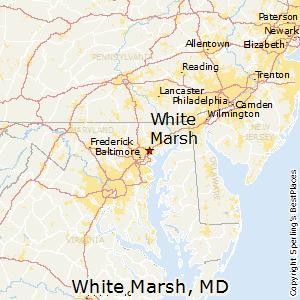 White_Marsh,Maryland Map