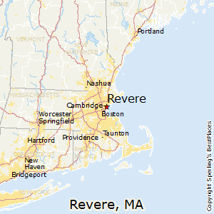 Revere,Massachusetts Map