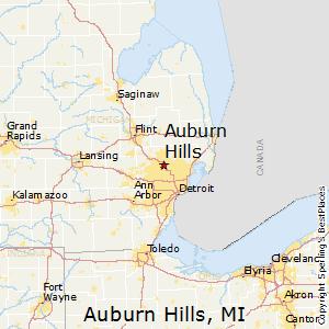 Auburn_Hills,Michigan Map