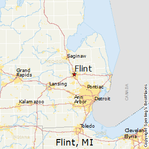 Flint,Michigan Map
