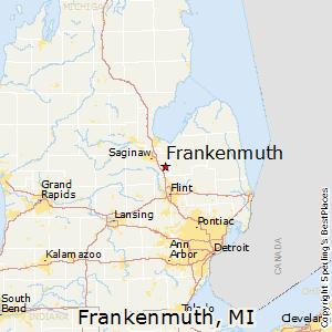 Frankenmuth,Michigan Map
