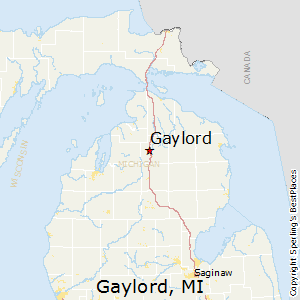 Gaylord,Michigan Map