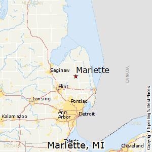 Marlette,Michigan Map