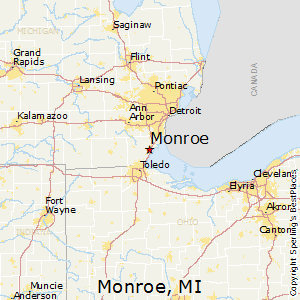 Monroe,Michigan Map