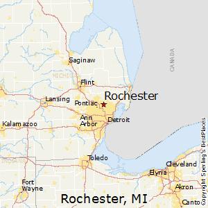 Rochester,Michigan Map