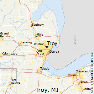 Troy,Michigan Map