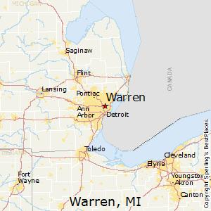 Warren,Michigan Map