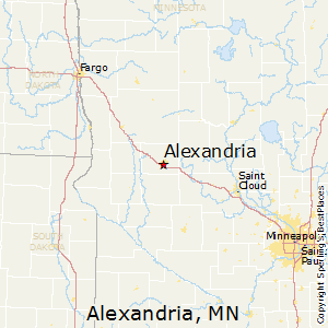 Alexandria,Minnesota Map