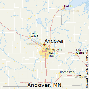 Andover,Minnesota Map