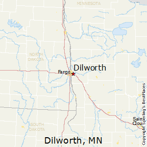 Dilworth,Minnesota Map