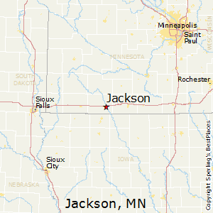 Jackson,Minnesota Map