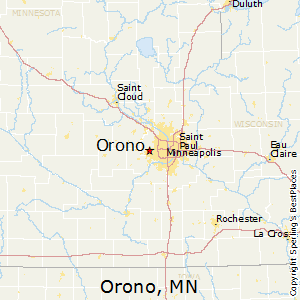 Orono,Minnesota Map
