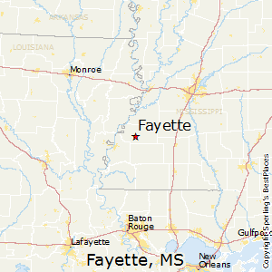 Fayette,Mississippi Map