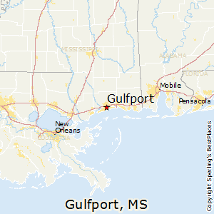 Gulfport,Mississippi Map