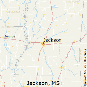 Jackson,Mississippi Map