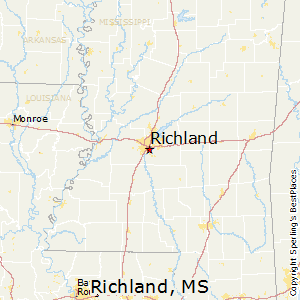 Richland,Mississippi Map