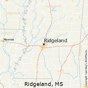 Ridgeland,Mississippi Map