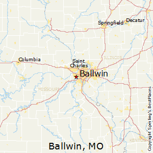 Ballwin,Missouri Map
