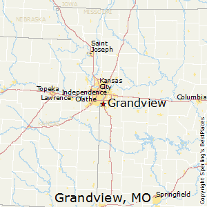 Grandview,Missouri Map