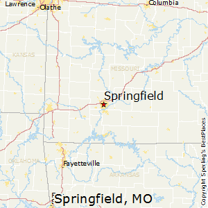 Springfield,Missouri Map