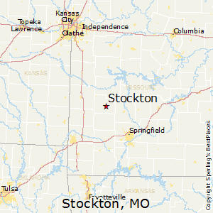 Stockton,Missouri Map