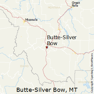 Butte-Silver_Bow,Montana Map