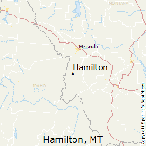 Hamilton,Montana Map