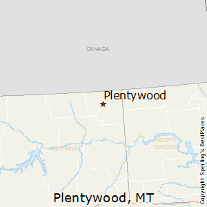 Plentywood,Montana Map