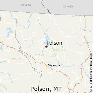 Polson,Montana Map