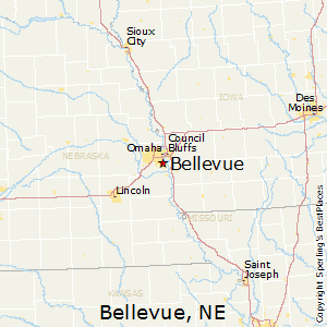 Bellevue,Nebraska Map