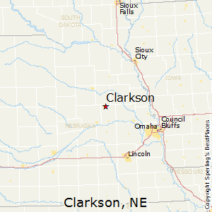 Clarkson,Nebraska Map